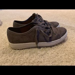 Vince leather sneakers dark grey size 8.5m